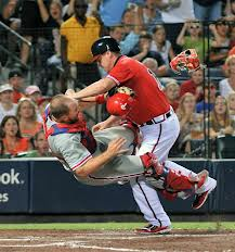 Erik Kratz and his epic collision with Chipper Jones