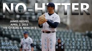 James Reeves no hitter April 2 2015