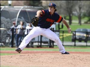Rafferty pitching for Bucknell