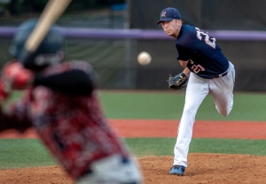 (7/29/15) - (Harrisonburg) The Harrisonburg Turks' James Ziemba pitches during their game against the Waynesboro Generals at James Madison University's Veterans Memorial Park on Wednesday, July 29. (Austin Bachand/Daily News-Record)