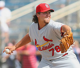 Chris Perez with the Cardinals