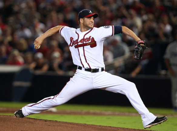 Brandon Beachy when he pitched for the Braves