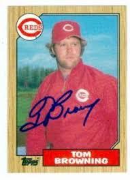 Tom Browning bball card