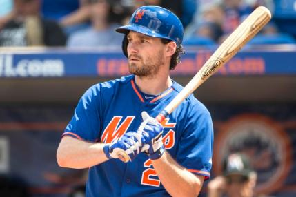 Port St Lucie, FL - March 9th: New York Mets Spring Training game. New York Mets vs Miami Marlins: New York Mets second baseman Daniel Murphy #28. March 9th, 2015. (Photo by Anthony J. Causi)