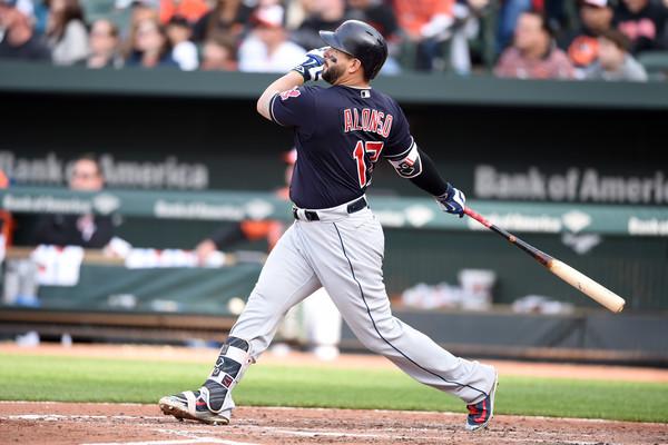 Yonder Alonso Cleveland swinging