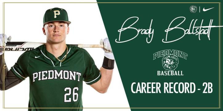 Brady Ballstadt career doubles Piedmont