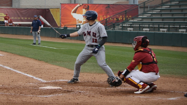 Trevin Esquerra LMU at the plate