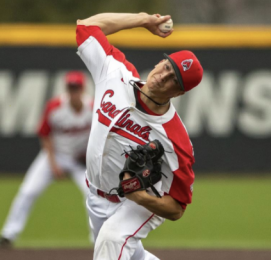 Kyle Nicolas throwing Ball State