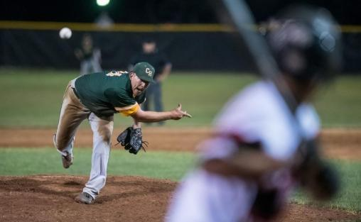 Bocock pitching for Clover Hill in the RCBL